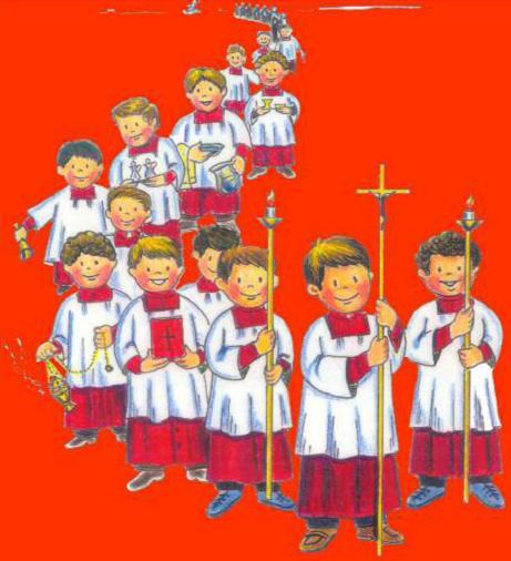 Monaguillos de la parroquia de la asuncion de ntra sra de manzanares