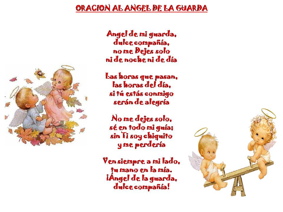 Oracion Angel De MI Guarda Para Ninos