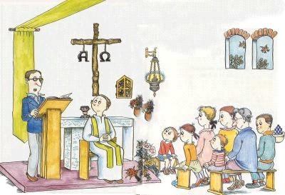 Resultado de imagen de dibujos de misa
