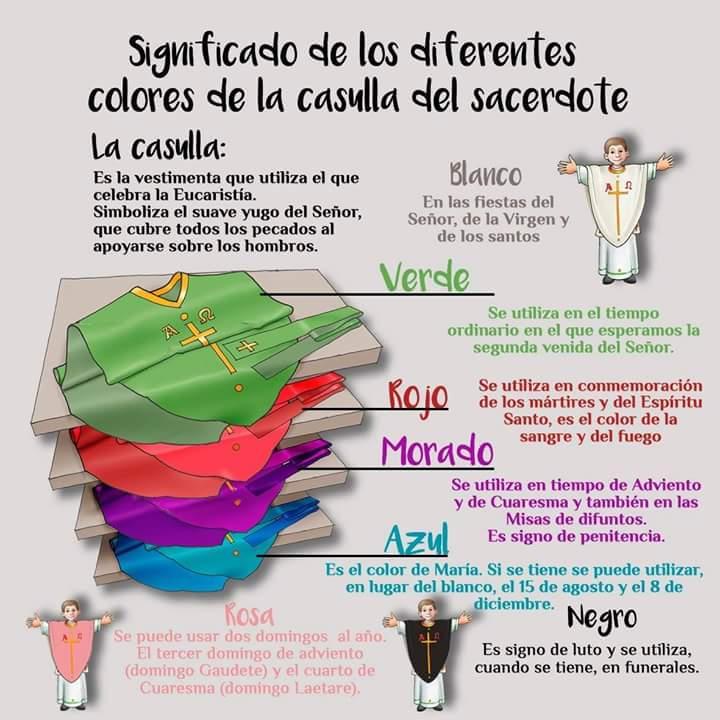 Significado de los colores lit rgicos en la ropa de los for Cuales son los colores minimalistas